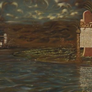 Bonhomme No.2 in Southwestern Landscape, 48 x 72 in., Oil on Canvas, 2008