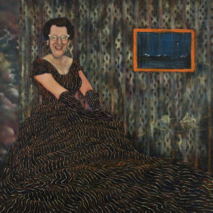 Western School; Savant divines knowledge from nature, Oil on canvas, 30''x40'', 2009