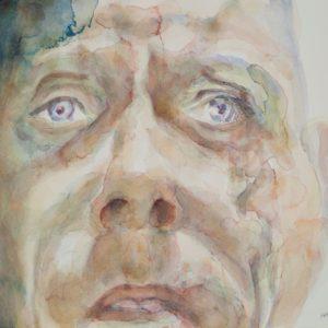 portrait, watercolour on paper, 9x12 in., April 2011