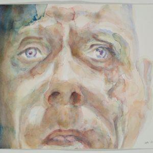portrait, watercolour on paper, 9x12 in, Feb 2011