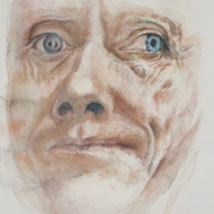 portrait, watercolour on paper, 9x12 in, Jan  2012