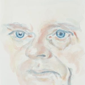 Portrait, Watercolour on paper, 9x12in,Sept 2015