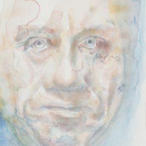 Portrait, watercolour on paper, 9x12in, Feb 2018