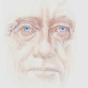 Portrait, watercolour on paper, 9x12in, Mar 2019